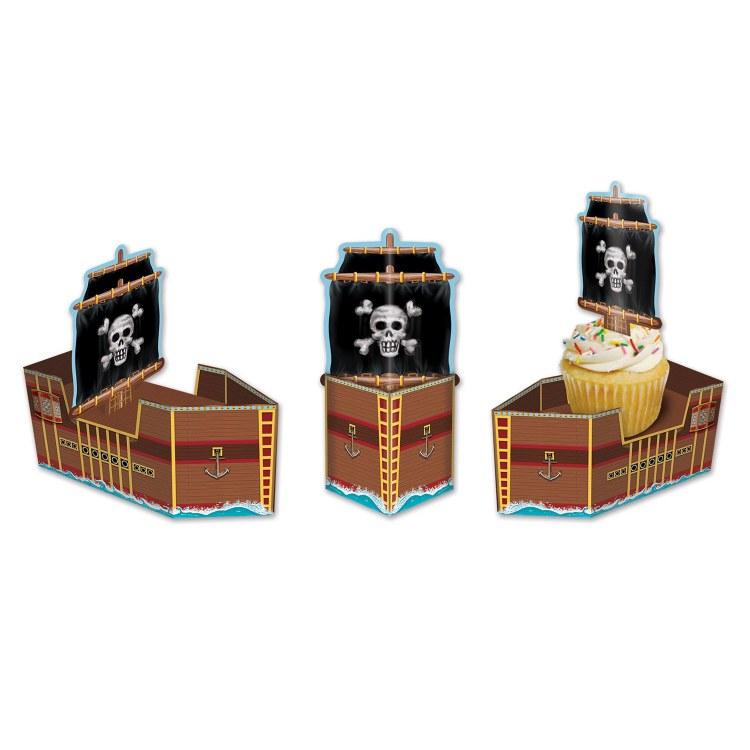 Pirate Ship Favor Boxes 3pk