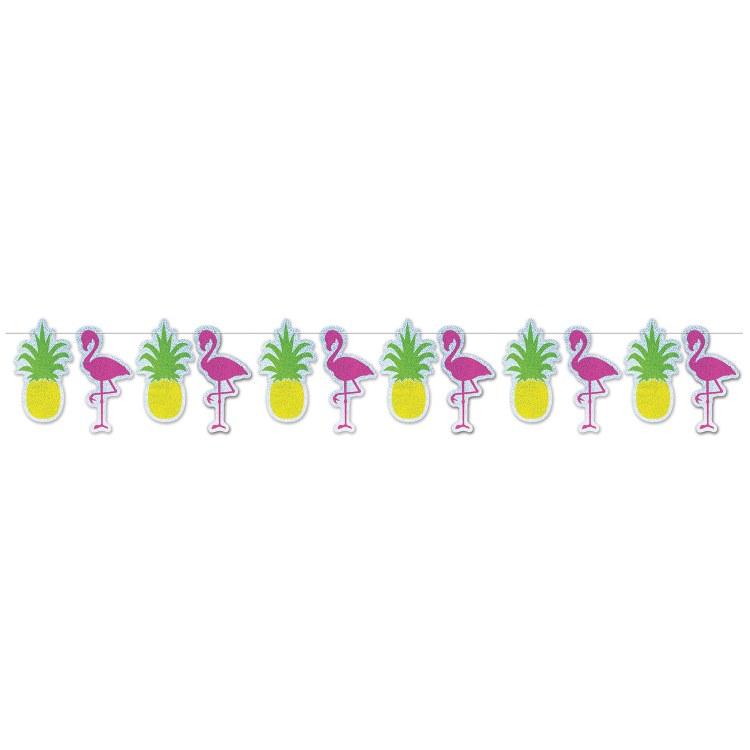 Flamingo + Pineapple Streamer