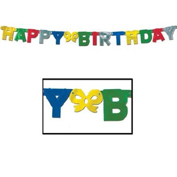 Banner Happy Bday Foil