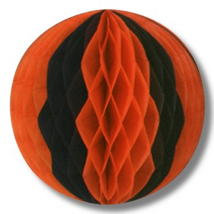 "Tissue Ball 14"" Orng/Blk"