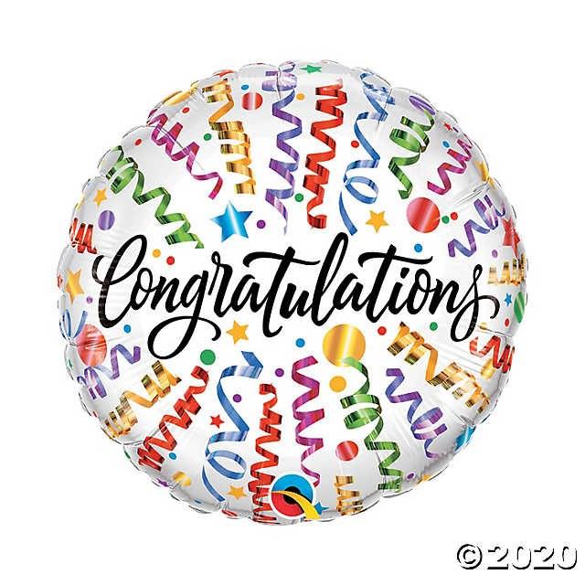 Mylar Congratulations Streamer