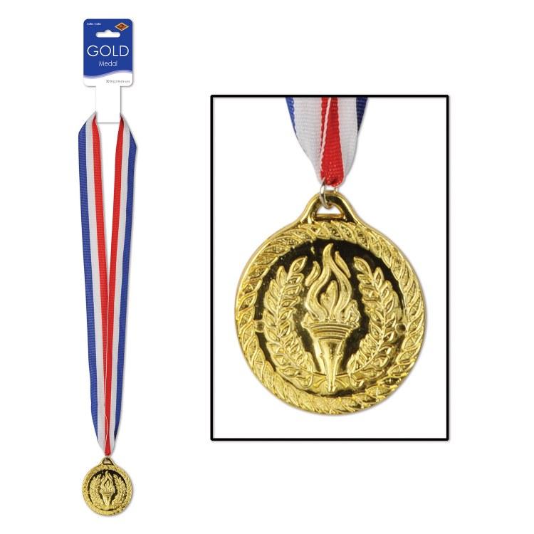 Gold Medal w/ Ribbon