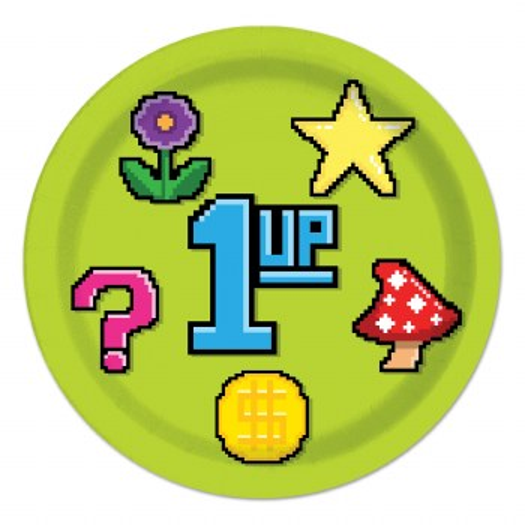 8-Bit 1UP Plates 9inch
