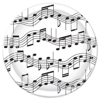 Music Notes 7in Plate