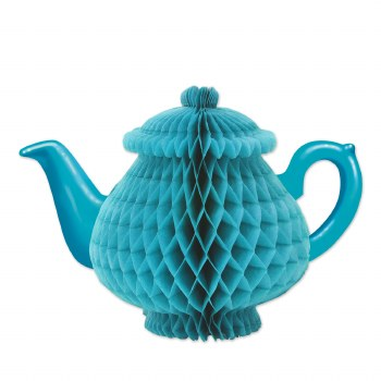 Teapot Blue Tissue Centerpiece