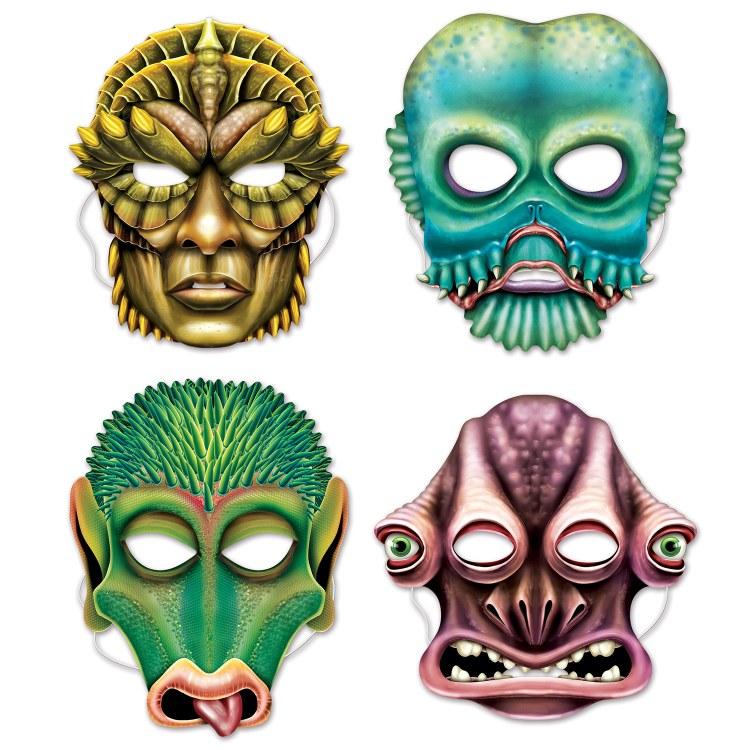 Masks Alien Paper 4pk