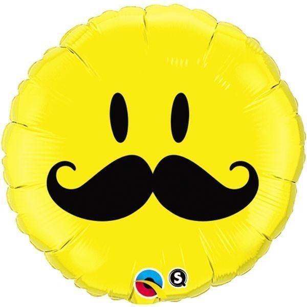 Blln Foil Moustache Face