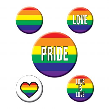 Pride Party Buttons 5pk