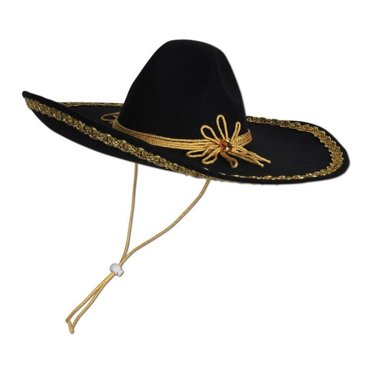 Sombrero Felt Gold Trim