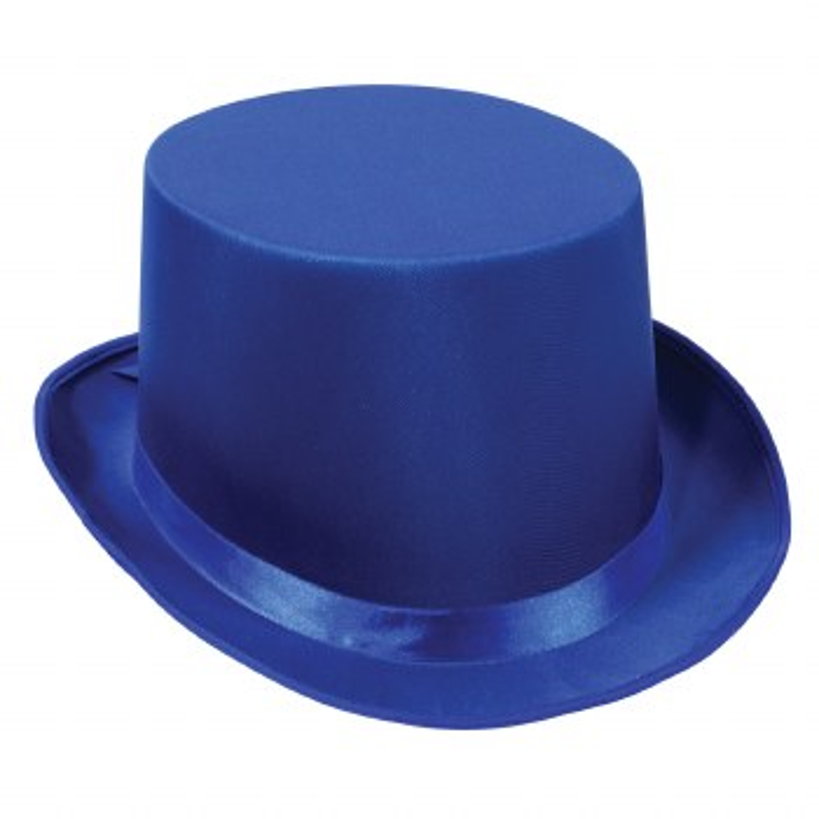 Top Hat Blue Satin