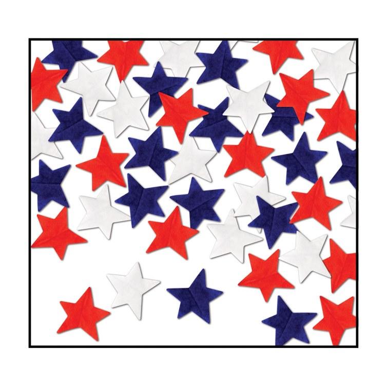 Confetti Tissue Star R/W/B