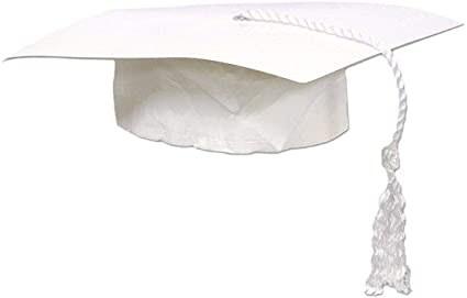 Grad Cap White