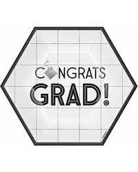 Congrats Grad Hexagon 7in Plates 8ct