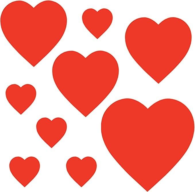 Heart Cutouts 9ct Asst