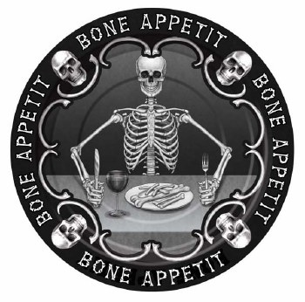 Bone Appetit 7in Plates 8ct