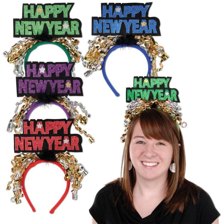 New Year Headband Glitter Asst