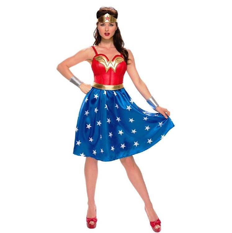Wonder Woman Dress Long L