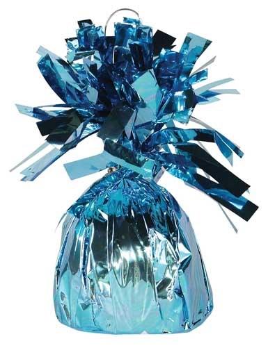 Fringed Balloon Weight ~ Light Blue