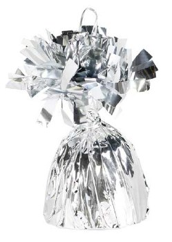 Fringed Balloon Weight ~ Silver