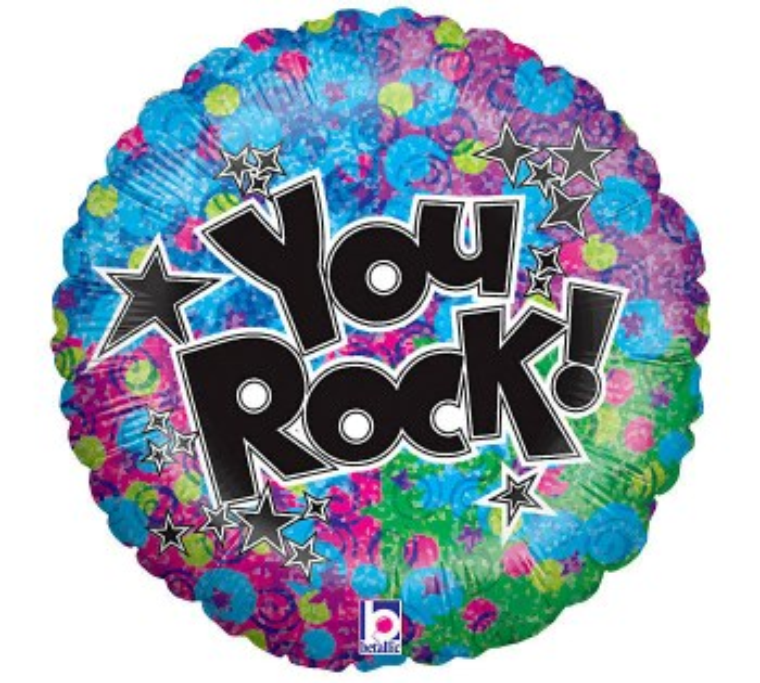 "Mylar 18"" You ROCK"