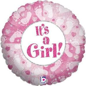 """18"""" Holographic Pink ~ It's a Girl!"""