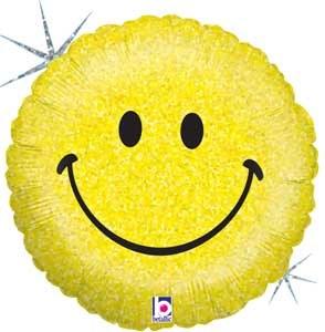 Blln Foil 18in Smiley Face