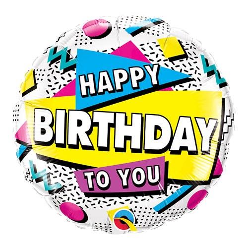 """18"""" Retro Happy Birthday"""