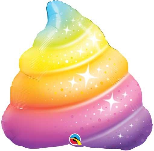 MYL 30'' Rainbow Poop Shape