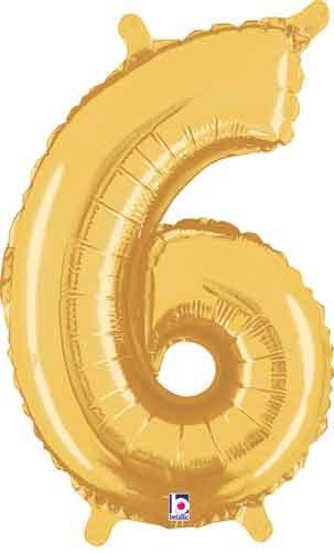 "14"" Gold Juniorloon Number 6"