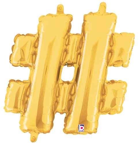 "14"" Gold Juniorloon Symbol #"