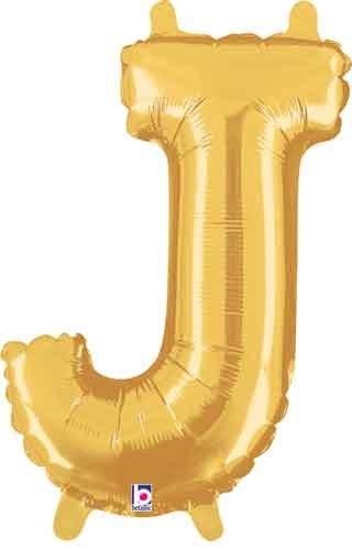 """14"""" Gold Juniorloon Letter J"""
