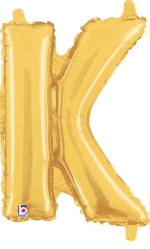 """14"""" Gold Juniorloon Letter K"""