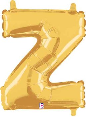 """14"""" Gold Juniorloon Letter Z"""