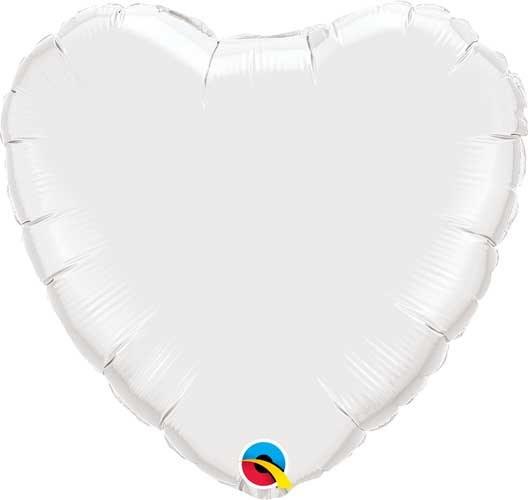 Heart ~ 18in White