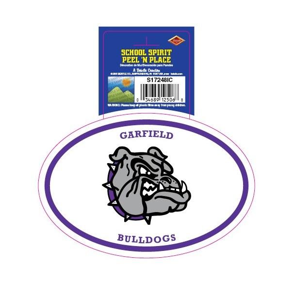 Garfield Bulldogs Peel'n'Place Oval Sticker