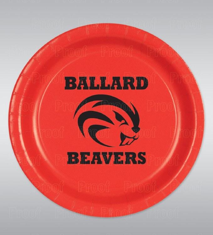 "Ballard Beavers 9"" Plates 8ct"