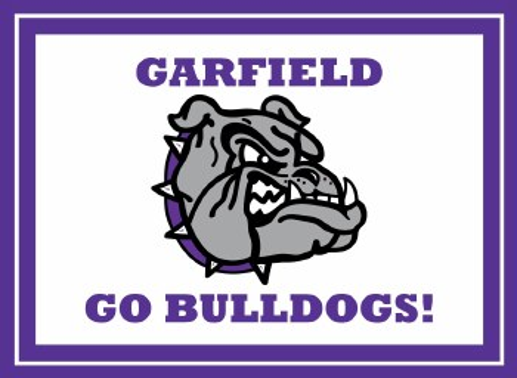 "Garfield Bulldogs Yard Sign 15.5"" x 11.5"""