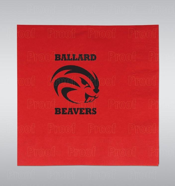 Ballard Beavers Lunch Napkins 16ct