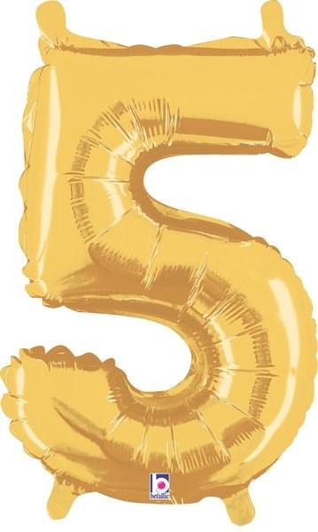 "14"" Gold Juniorloon Number 5"
