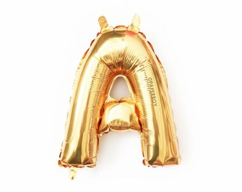 """14"""" Gold Juniorloon Letter A"""