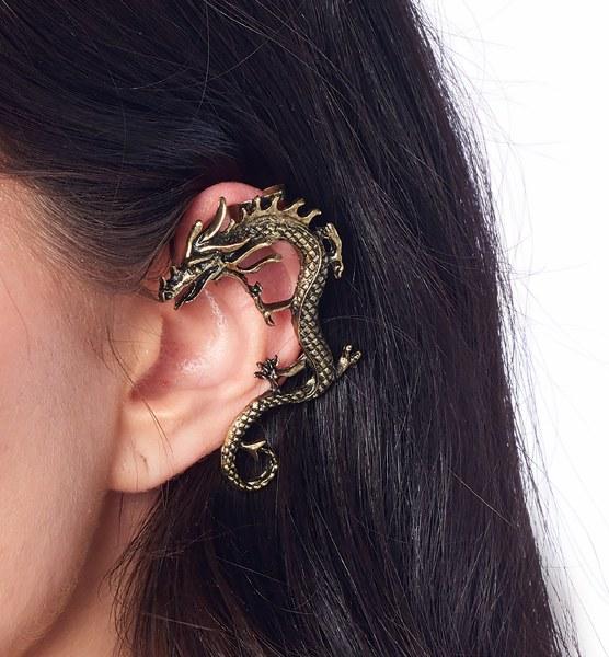 Steampunk Ear Wraps Dragon Eye Wings Angel