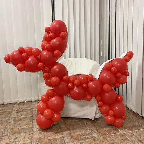 Mosaic Frame w/ Balloons Dog