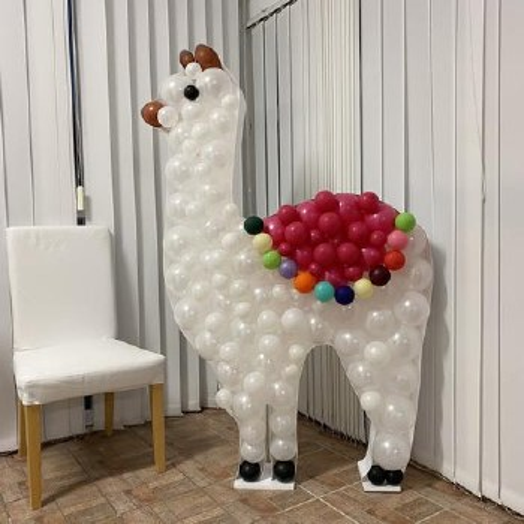 Mosaic Frame w/ Balloons Llama