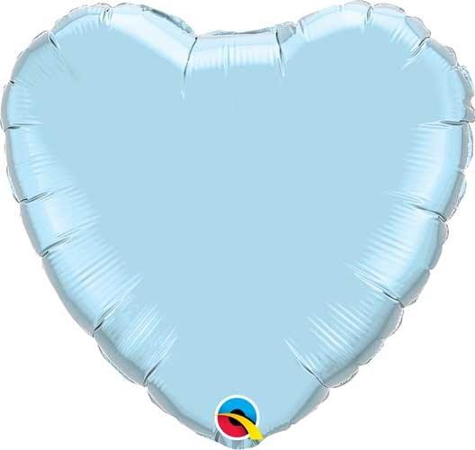 """Mylr 18"""" Lt Blue Heart"""