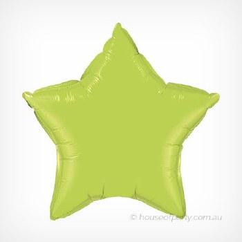 Blln Foil 20in Star Lime