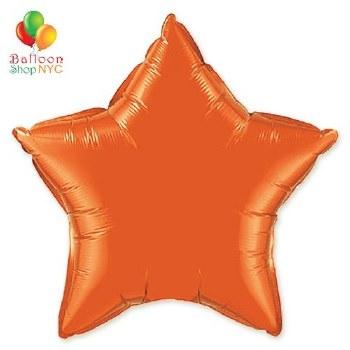 Blln Foil 20in Star Orange