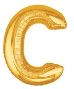 "Megaloon Gold Letter ""C"""