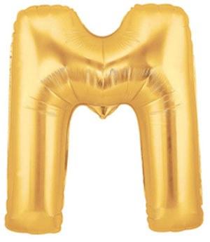 "40"" Megaloon Gold Letter M"
