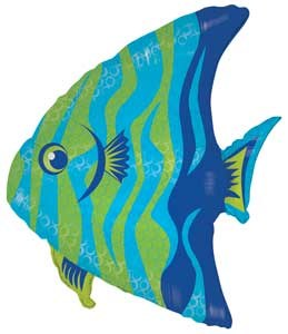 "Mylar 28"" Tropical Fish"