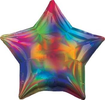 "Star ~ Iridscent Rainbow ~ 19"""